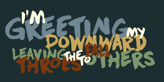 Downward Fall Font free