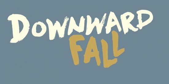 Downward Fall Font