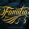 Familia Tattoo Lettering Font free download