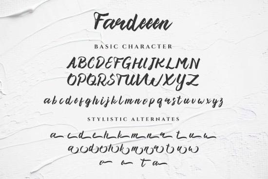 Fardeeen Font download