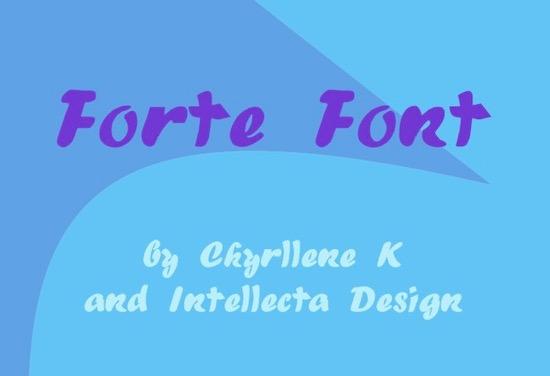 Forte Font download