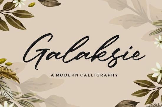 Galaksie Font free download