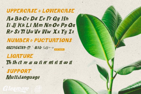 Gleamore Font download