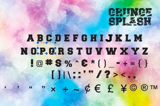 Grunge Splash Font free