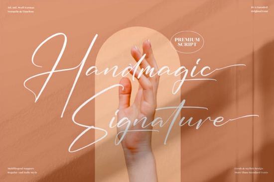 Handmagic Signature Font free download