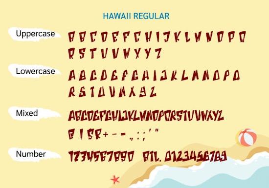 Hawaii Font free
