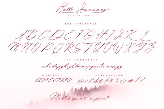 Hello January Font download