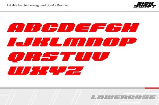 High Swift Font free