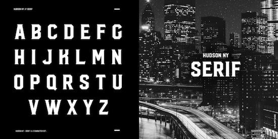 Hudson NY Font download