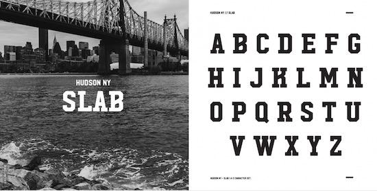 Hudson NY Font free download