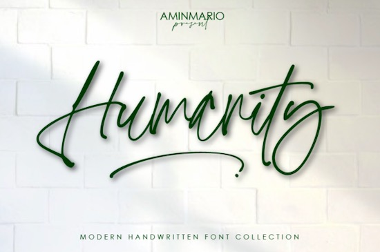 Humanity Font free download
