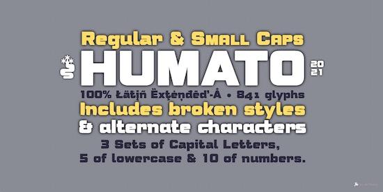 Humato Heavy Font free
