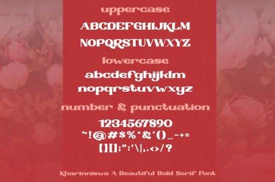 Kharinniswa Font download