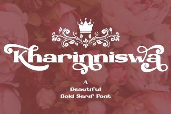 Kharinniswa Font free download