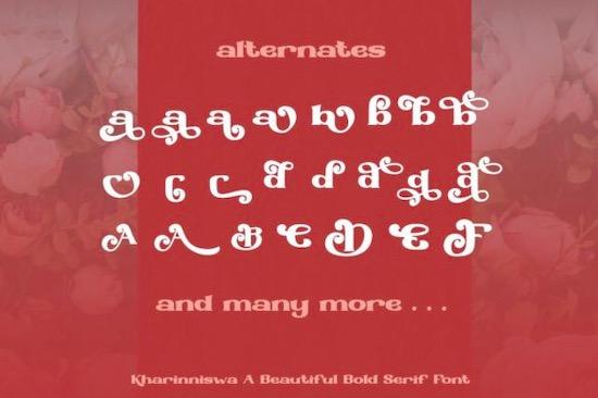 Kharinniswa Font