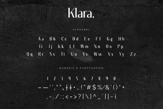 Klara Font free