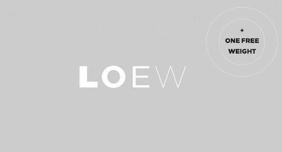 Loew font free download