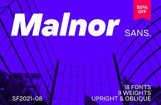 Malnor Sans Font Family free download