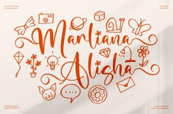 Marliana Alisha Font free download