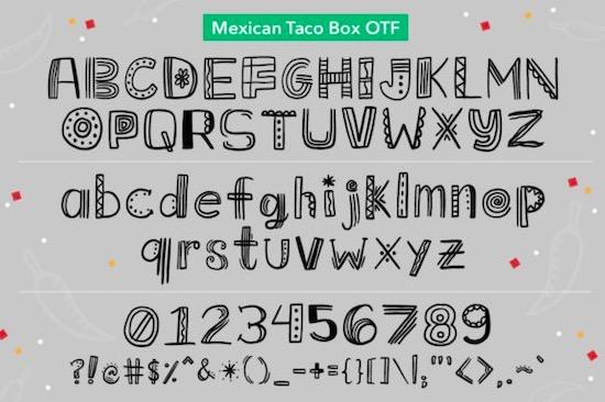 Mexican Taco Box Font download