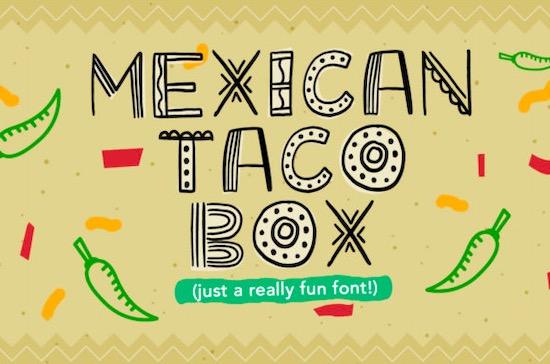 Mexican Taco Box Font free download