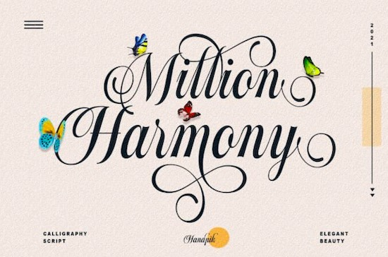 Million Harmony Font free download
