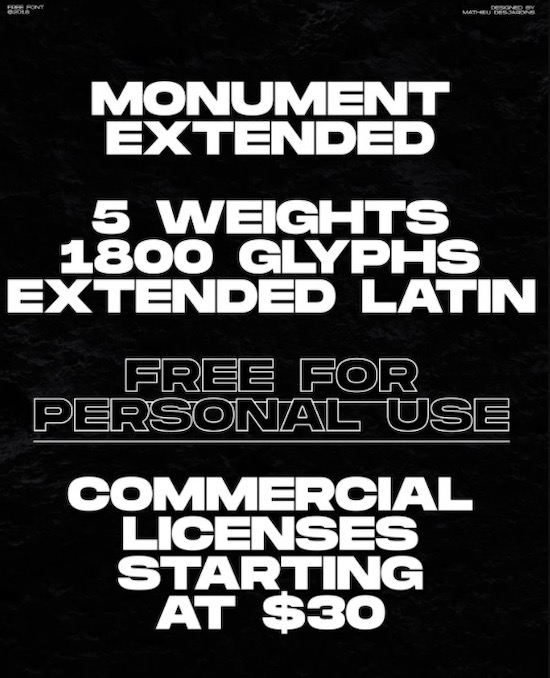 Monument Extended Font download