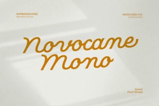Novocane Mono Font free download
