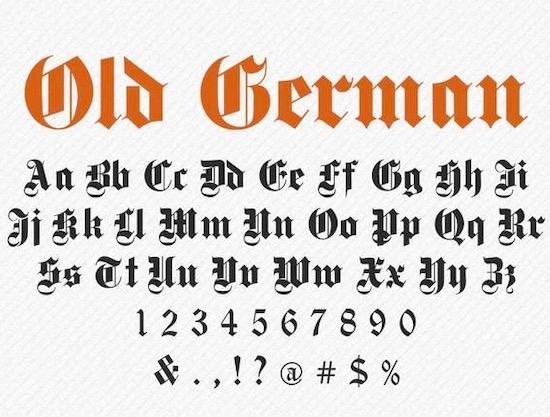 Old German font