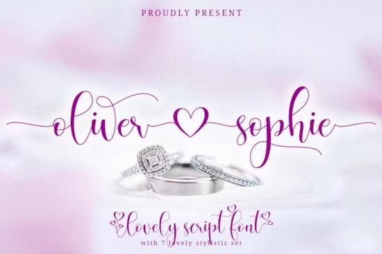 Oliver Sophie Font free download