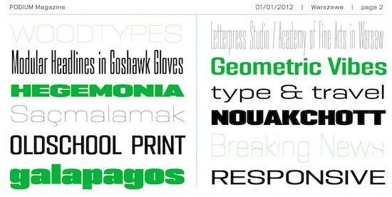 PODIUM Sharp Font free
