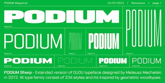 PODIUM Sharp Font