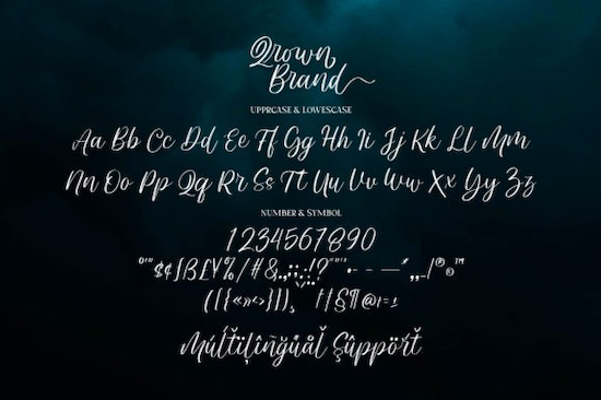Qrown Brand Font download