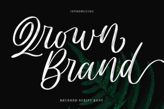 Qrown Brand Font free download