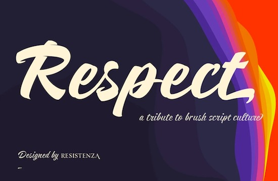 Respect Font free download