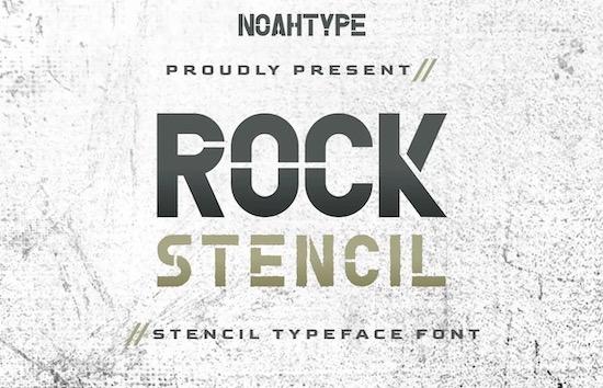 Rock Stencil Font free download