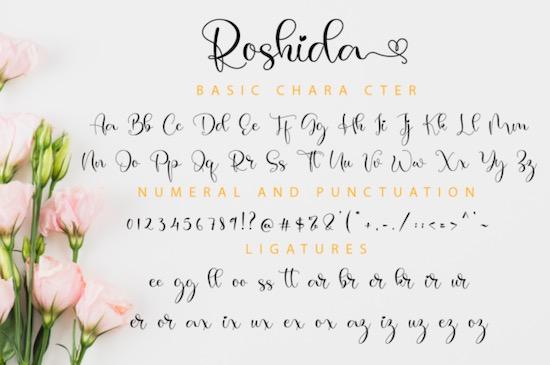 Roshida Font download