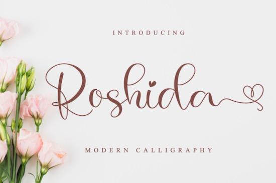 Roshida Font free download
