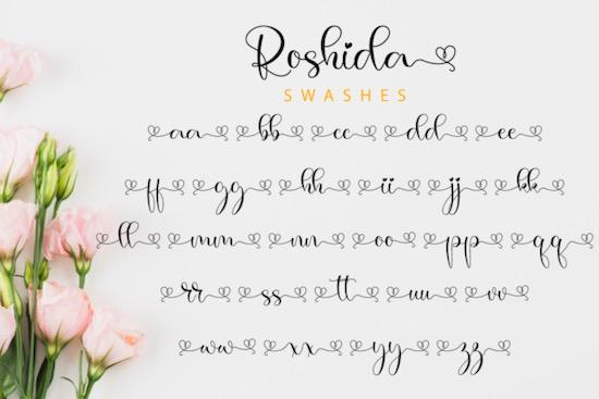 Roshida Font free