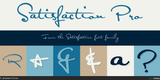 Satisfaction Font