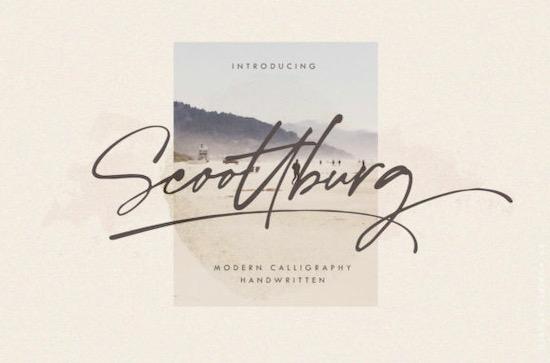 Scoottburg Font free download
