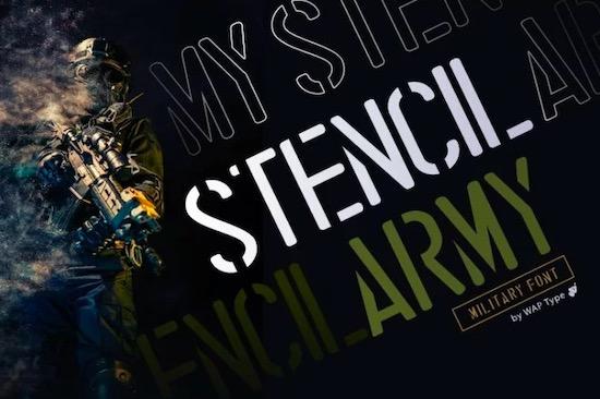 Stencil Font free download