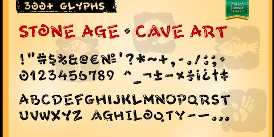 Stone Age Font download