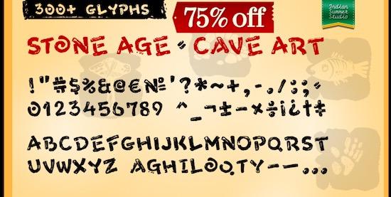 Stone Age Font free