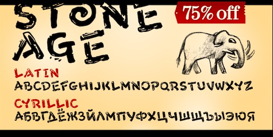 Stone Age Font