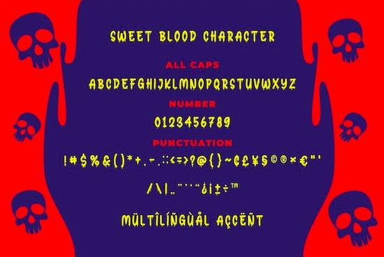 Sweet Blood Font download