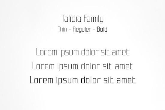Talidia font free