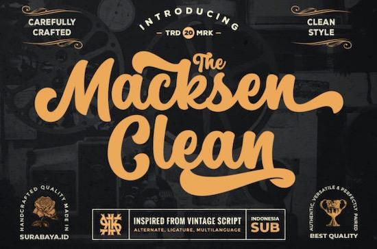 The Macksen Font free download
