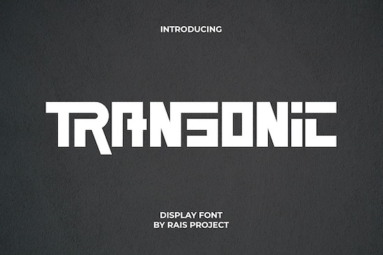 Transonic Font