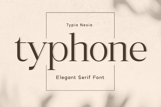 Typhone Font free download